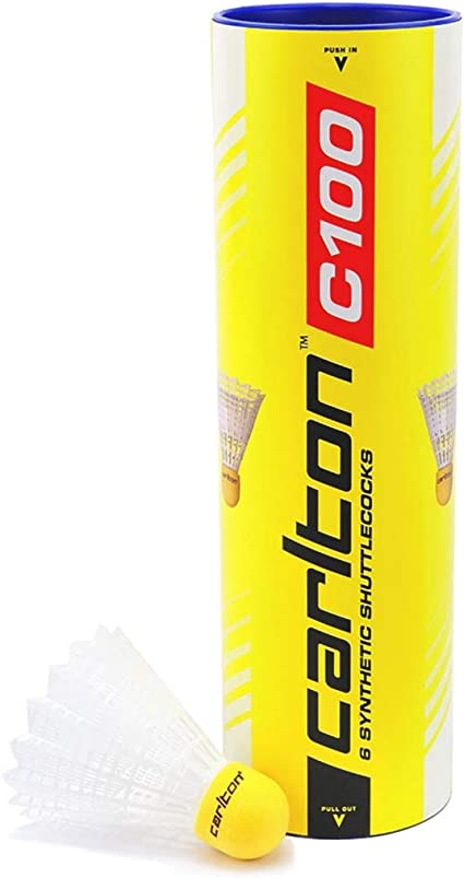 C100 Badminton Shuttles 6-pack