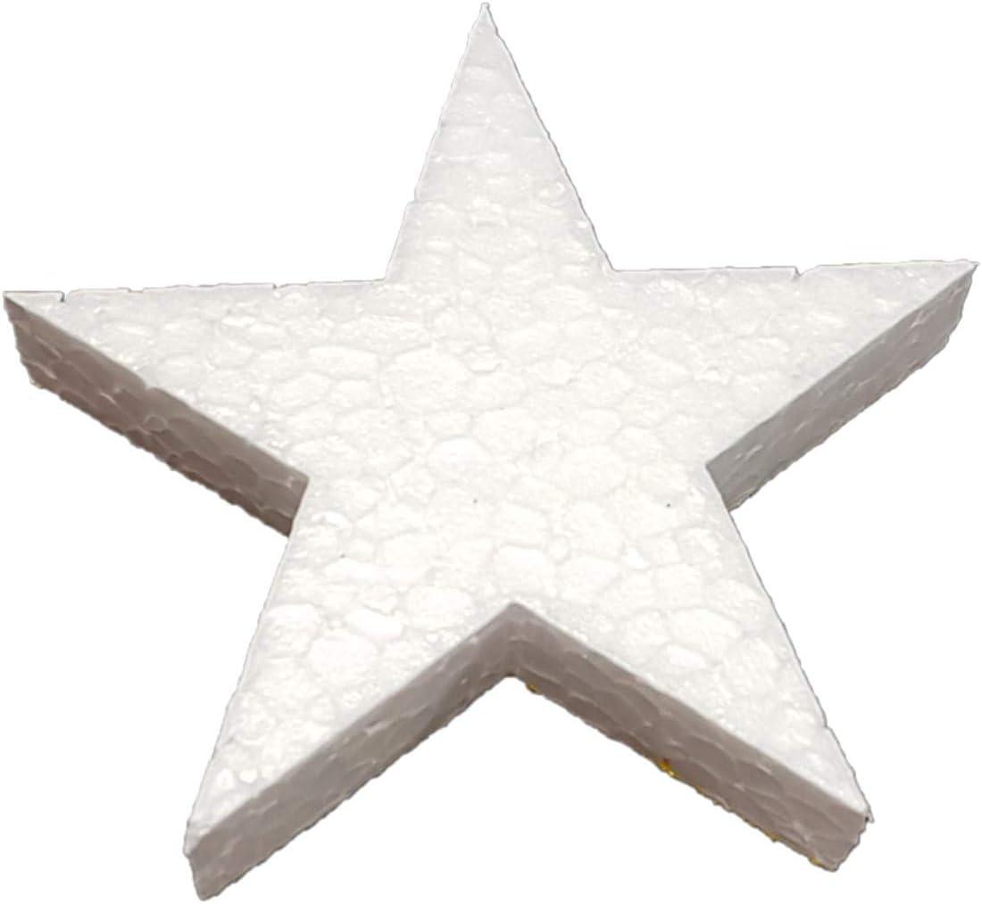 DecoPorex Figurine en Forme d/étoile de 15 cm en polystyr/ène Non Peint pour d/écorations et No/ël