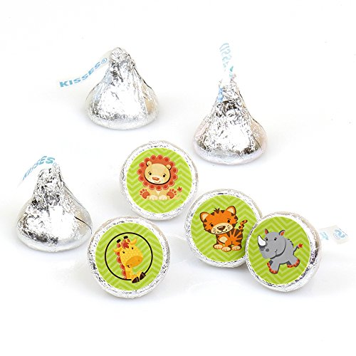 Funfari - Fun Safari Jungle - Baby Shower or Birthday Party Round Candy Sticker Favors - Labels Fit Hershey's Kisses (1 sheet of 108) for $<!--$8.89-->