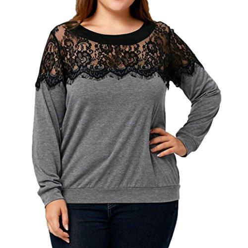 [XL-5XL] レディース Tシャツ 大きなサイズ レース 長袖 トップス おしゃれ ゆったり カジュアル 人気 高品質 快適 薄手 ホット製品 通勤 通学