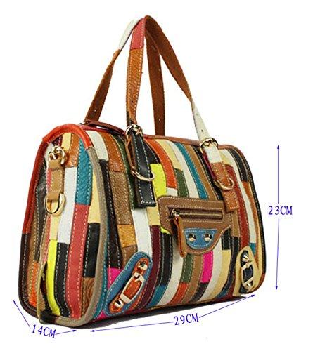 cuir sac dame sac top de tout à la en main multicolore femmes sac véritable 8 messager poignée bandoulière sac main des Ghlee à fourre shopper multicolore Mode 0BqdOxB