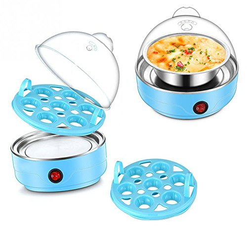 Electric 7 Egg Boiler Cooker Mini Steamer Poacher Kitchen Cooking Tool