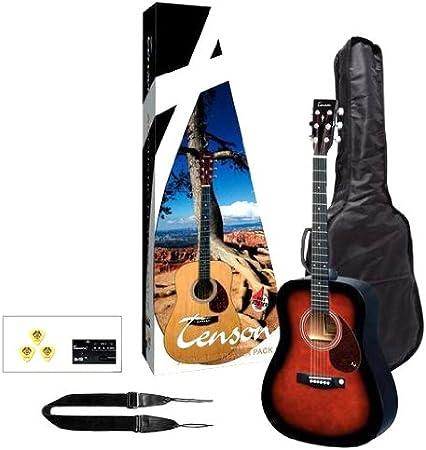 Tenson F502212 - Pack guitarra acústica, diseño violin burst: Amazon.es: Instrumentos musicales