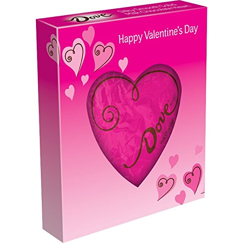 Dove Valentine's Candy Solid Heart, Milk Chocolate, 4-Ounce Package
