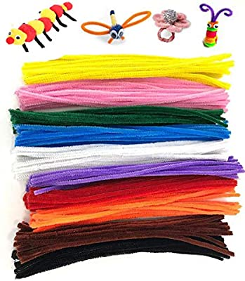 Pipe Cleaners Crafts - Chenille Stems Assorted Colors Craft Wire Bendable &  Twistable 250 Pcs - DIY Art Supplies for Children's Craft Projects, Paper