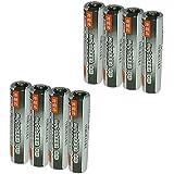 JC 充電式電池 単4形 8個パック [容量:1000mAh 約500回使用可能] 充電池 ニッケル水素