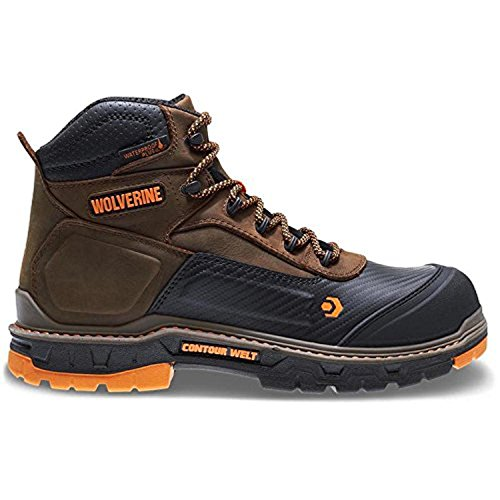 Work Boot Bundle, Cap & Men's Overpass CarbonMAX 6 in. Boot Summer Brown 09.5 EW by Wolverine, USA
