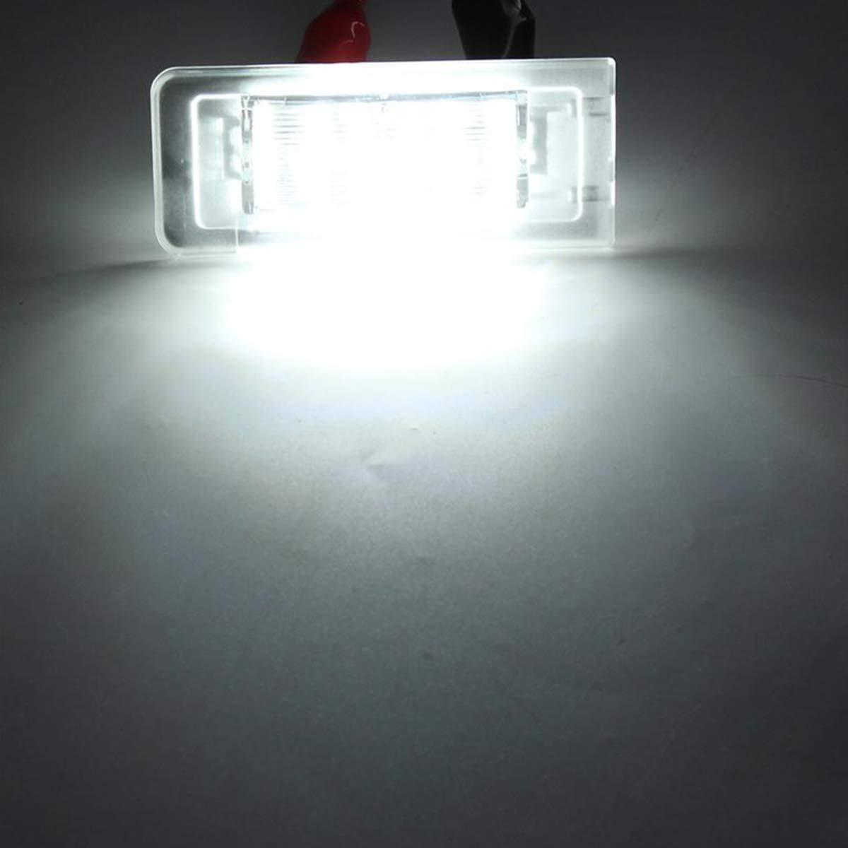 GOFORJUMP 2 Pezzi Numero di LED Luce Targa Luce per A//UDI TT 8N 1999-2006