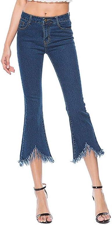 Lanceyy Pantalones Vaqueros Pantalones Para Mujer Cintura Alta Pantalones Pitillo Botas Sencillos De Corte Pantalones De Mezclilla Ocio Falso Pantalones Azul Oscuro Vestidos Sra Jeans Estilo Amazon Es Ropa Y Accesorios