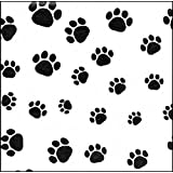Dog Paw Print Tissue Papers 15 x 20 inch - 50 Sheet pack