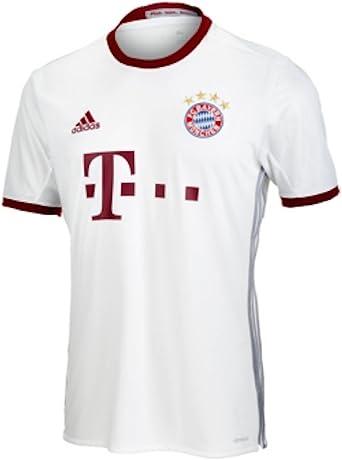 Arruinado vistazo juntos  Amazon.com : adidas FC Bayern Munich UCL Jersey-White : Clothing
