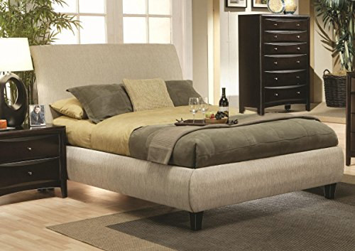 Coaster 300369Q-CO Queen Tan Phoenix Upholstered Bed ()