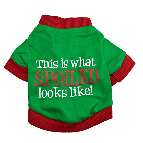 Ollypet Small Dog T-Shirt Spoiled Looks Like Green Apparel Fashion Meme Style XS/S/M/L