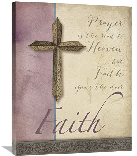Global Gallery Elyse Deneige Words for Worship Faith Canvas Artwork, 28'' x 35'' by Global Gallery