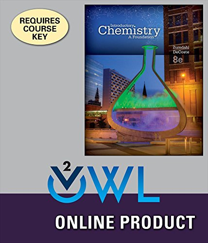 OWLv2 for Zumdahl/DeCoste's Introductory Chemistry: A Foundation, 8th Edition