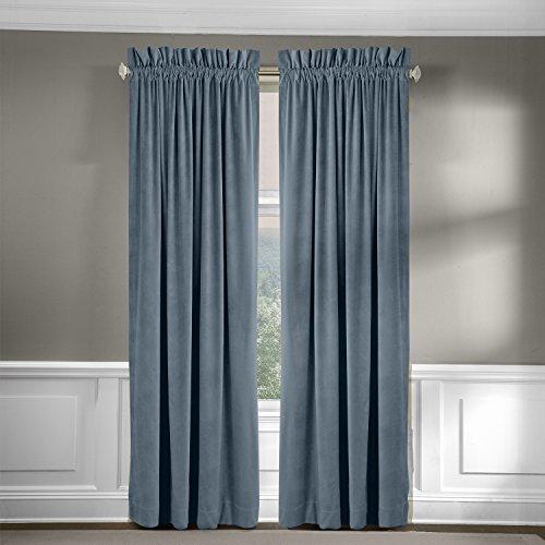 Made in the USA 100% Cotton Velvet Rod Pocket Window Panel,