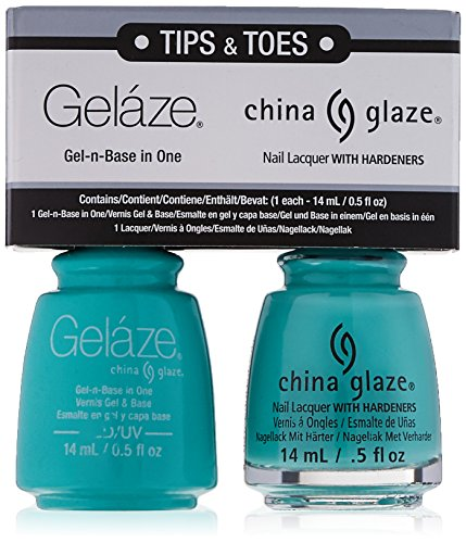 (China Glaze Gelaze Tips and Toes Nail Polish, Too Yacht to Handle, 2)