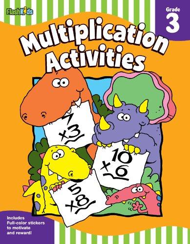 Multiplication Activities: Grade 3 (Flash Skills) - Multiplication Tables Colouring Book