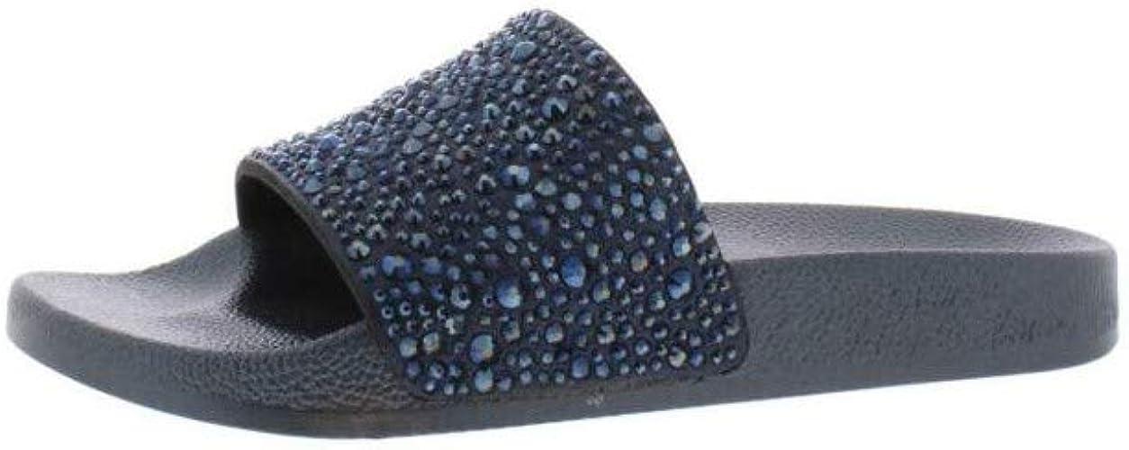 INC International Concepts Womens Peymin5 Fabric Open Toe Casual Slide Sandals