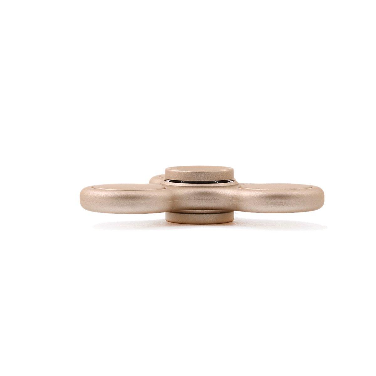 Mute Bearing Uharbour ElitePro Prime Anti Stress Hand Toy Fidget Tri-Spinner Luxury Gold for Kids