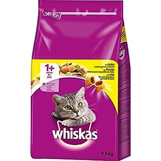 Whiskas Katzenfutter Trockenfutter Adult 1+ mit Huhn, 1 Beutel (1 x 3,8kg) 3