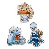 Pokemon Center Original Pins Set Badges Pikachu Arora Vulpix Popplio /Pokemon Center Sapporo Limited Edition Japan