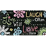 Toland Home Garden Live Laugh Love Chalkboard Anti-Fatigue Comfort Mat, 20 by 38