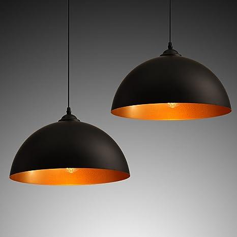 2 x Lámpara colgante VINTAGE Candelabros industriales ...