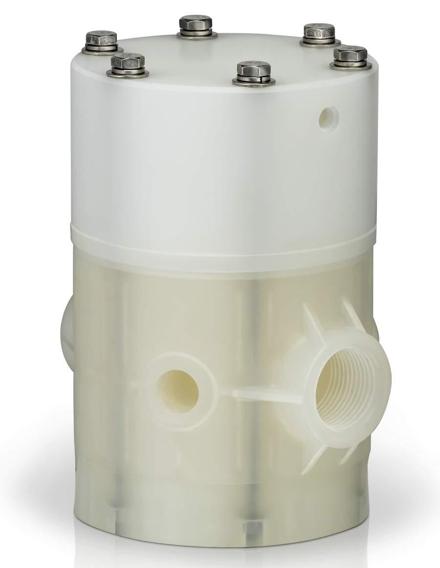1 Viton Plast-O-Matic Series BSRM Balanced Air Operated Shut-Off Valve PVC