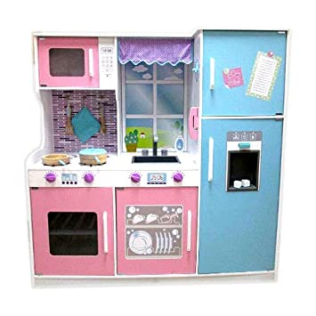 Amazon Com Imaginarium All In One Wooden Kitchen Set Toys Games