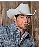 Justin Men's 8X Fur Felt Mustang Cowboy Hat Platinum 7