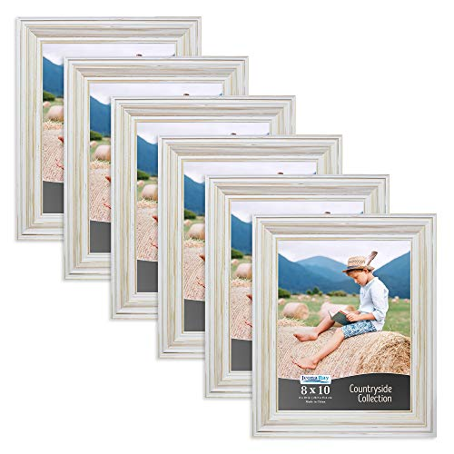 Icona Bay 8x10 Picture Frames (6 Pack, Creamy White), Picture Frame Set, Wall Mount or Table Top, Set of 6 Countryside ()