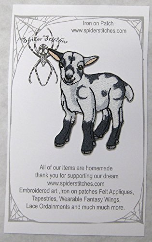 - Cute Baby Pygmy Goat Iron on Patch