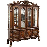 ACME 12155 Dresden Hutch and Buffet, Cherry Oak Finish