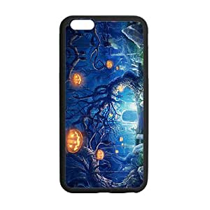 Happy Halloween capricious tree and pumpkin Case for iPhone 6 plus 5.5""