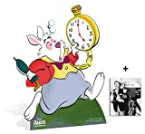Fan Pack - White Rabbit from Alice in Wonderland Disney Lifesize Cardboard Cutout/Standee/ Stand Up - Includes 8x10 Star Photo