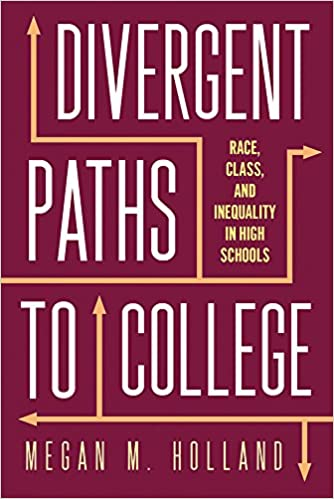 cover image, divergent paths to college
