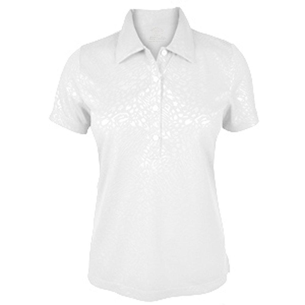 Monterey ClubレディースDryスイングArtsy動物エンボスシャツ# 2443 Medium ホワイト B00US9LH0A