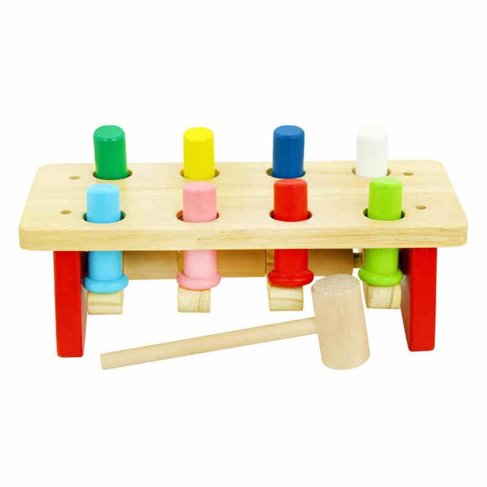 marca de lujo Juguetes para Bebés FEI Medio Hit The West pilotes pilotes pilotes Taiwán Los primeros juguetes de la educación intervención de los juguetes los niños de madera Puzzle estación de percusión Temprano Educación  colores increíbles