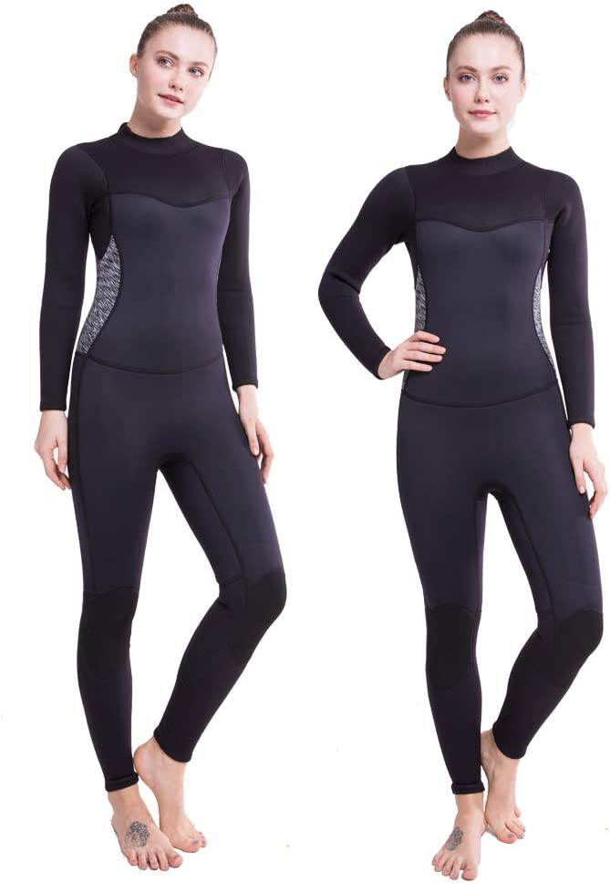 Flexel Wetsuit Women 2mm Shorty Full Diving Suits 3mm Premium CR Neoprene Adult s Swimwear Girls Swimsuit Jumpsuit Surfing Swimming Scuba Diving Snorkeling