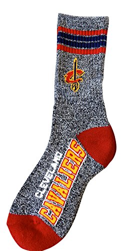NBA Charcoal Grey Got Marbled? Promo Socks by For Bare Feet (Large 10-13, Cleveland Cavaliers)