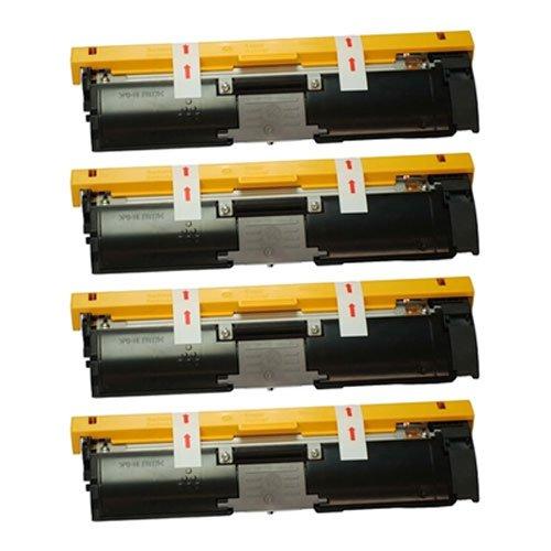 Image of Amsahr 1710587-004 Minolta 1710587-004, 2400W Remanufactured Replacement Toner Cartridge with Four Black Cartridges