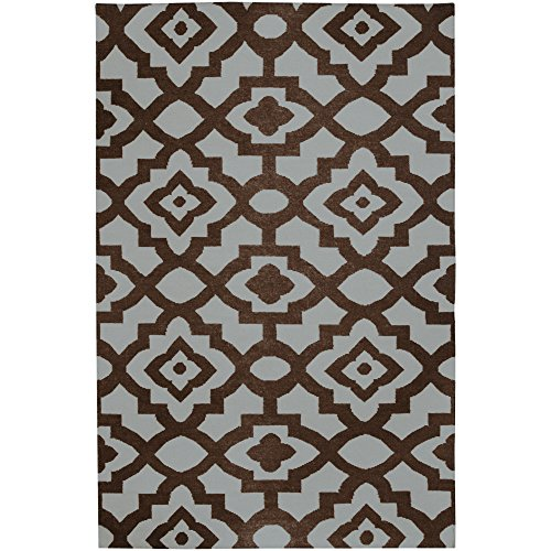 Surya Candice Olson Market Place MKP-1002 Flatweave Hand Woven 100% Wool Chocolate 2' x 3' Global Accent ()