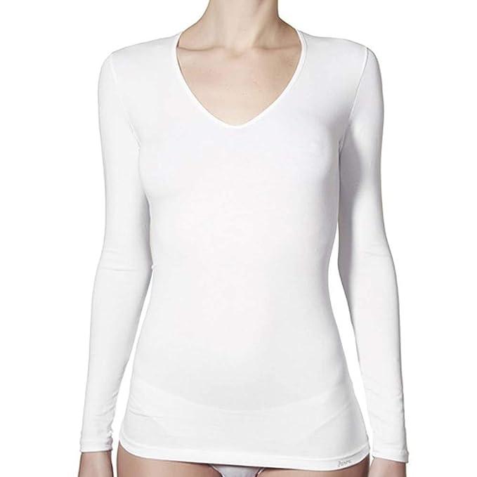 JANIRA Camiseta Manga Larga de algodón Day Cotton - Blanco 430cc01b2111