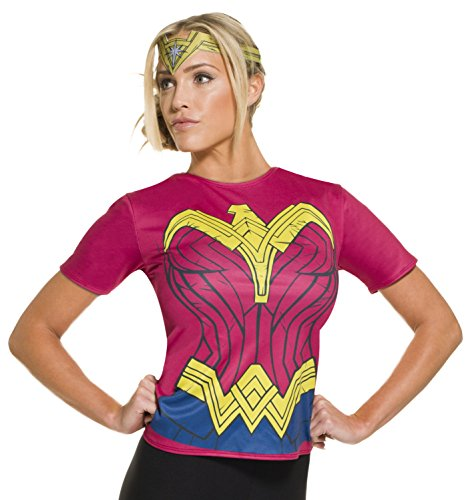 Wonder Woman Halloween Costume Pants (Rubie's Women's Batman v Superman: Dawn of Justice Wonder Woman Costume Top)