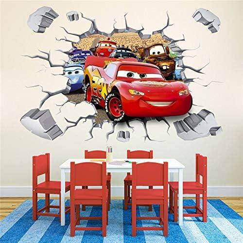 Kibi 2PCS Pegatinas Decorativas Pared Cars 3d Disney Para Sala De Ni/ños Sala De Estar Dormitorio Bebe Decoraci/ón Del Hogar Pegatinas De Pared Ni/ño Adhesivos Pared Decorativos Cars Extra/íble