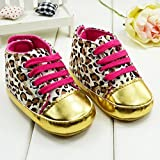 Cute Baby Toddler Infant Leopard Crib Shoes Soft