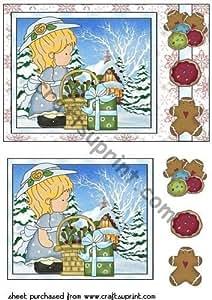 Rodamientos para regalos de Navidad rectangular cartón 3 de Sharon Poore