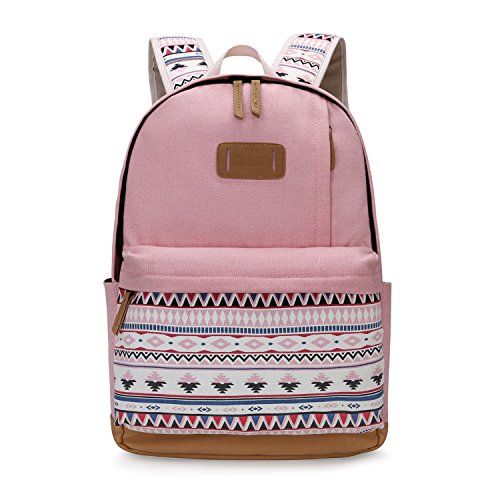 ECOSUSI Backpack Cute School College Casual Daypack for Teens Girls, Pink