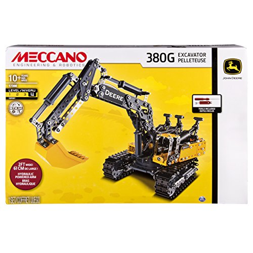 Meccano-Erector - John Deere 380G Excavator with Working - Cylinder Model Hydraulic